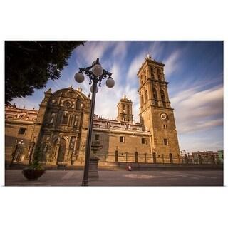 """Puebla Cathedral"" Poster Print"