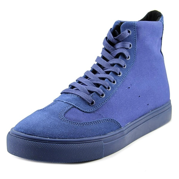 Generic Surplus Champion Hi Men  Round Toe Canvas Blue Sneakers