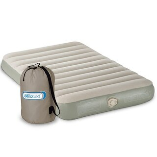 Aerobed 2000010370 Single High Twin Size with 120V Pump Airbed - White