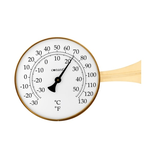 """15"""" Gold and White Round Dial Thermometer with Scales - N/A"""