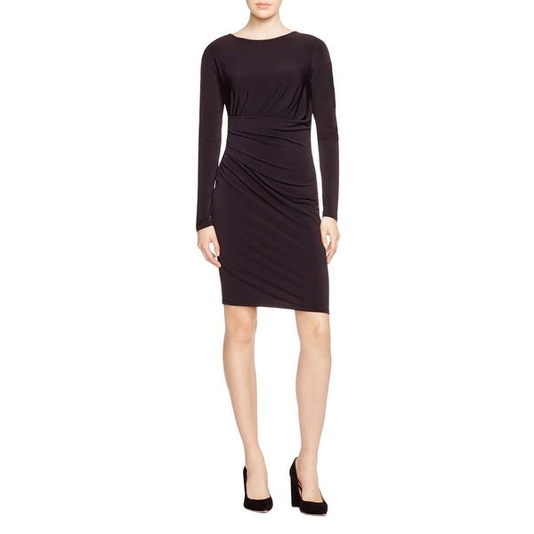 MICHAEL Michael Kors Womens Cocktail Dress Gathered Boat Neck