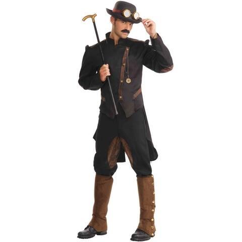 Forum Novelties Steampunk Gentleman Adult Costume - Black/Brown