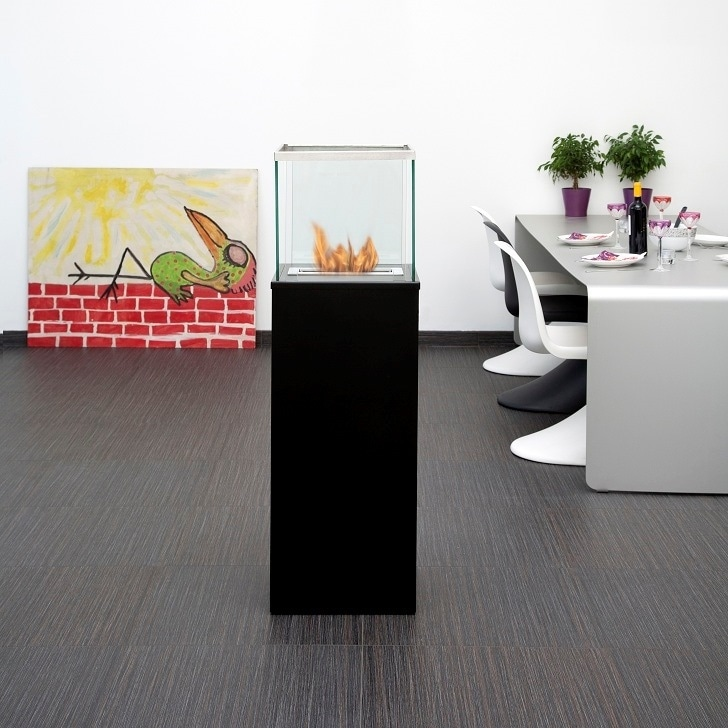 Bio-Blaze Outdoor Column Bio-Ethanol Fireplace - Black - Thumbnail 0