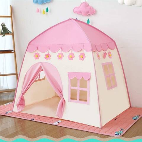 Kids Play Tent Princess Playhouse Pink Castle Play Tent