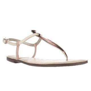 Sam Edelman Gigi Flat Sandals, Pink/Ivory/Rose Gold