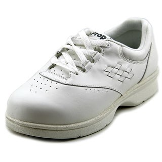 Propet Vista Walker Women 2E Round Toe Leather White Sneakers