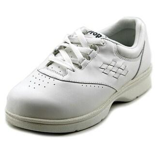 Propet Vista Walker Women  Round Toe Leather White Sneakers