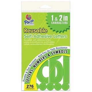 Pacon Self-Adhesive Letter 1 in, 2 in, Green, Pack of 276