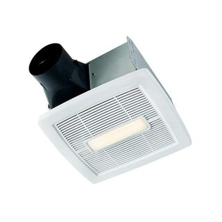 NuTone AEN110L InVent Series 110 CFM 1.3 Sone Ceiling Mounted HVI Certified Bath Fan with LED Light