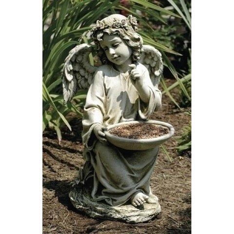 "14"" Joseph's Studio Angel Bird Bath or Feeder Outdoor Garden Statue"