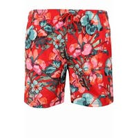 Sundek Red Mens Size 2XL Board Shorts Floral Printed Swimwear