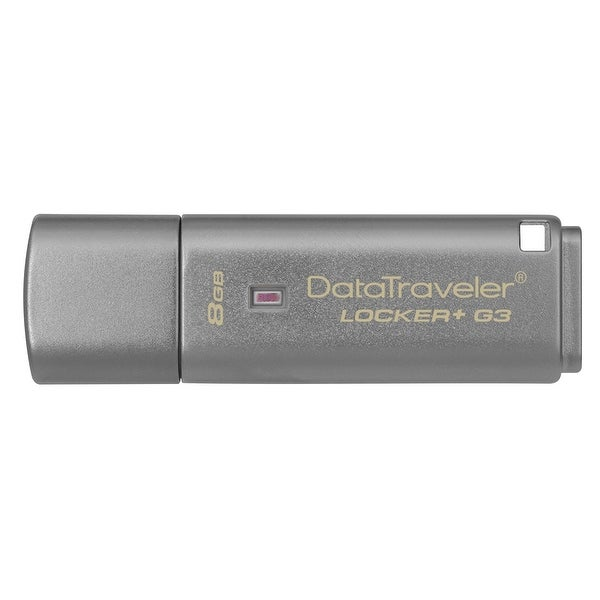 Kingston Digital 8Gb Data Traveler Locker + G3, Usb 3.0 With Personal Data Security & Automatic Cloud Backup