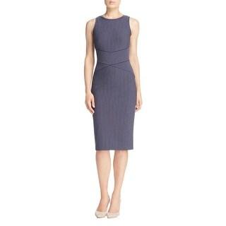 MICHAEL Michael Kors Womens Wear to Work Dress Pinstriped Sleeveless
