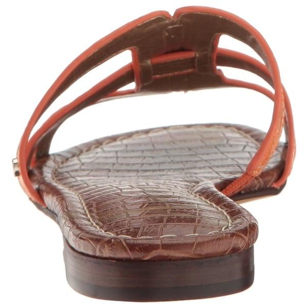 38c1a6143425 Shop Sam Edelman Womens Berit Leather Open Toe Casual Slide Sandals ...