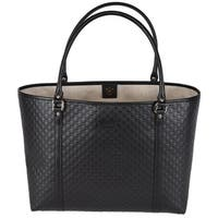 Gucci 449647 Black Leather Micro GG Guccissima Joy Purse Handbag Tote