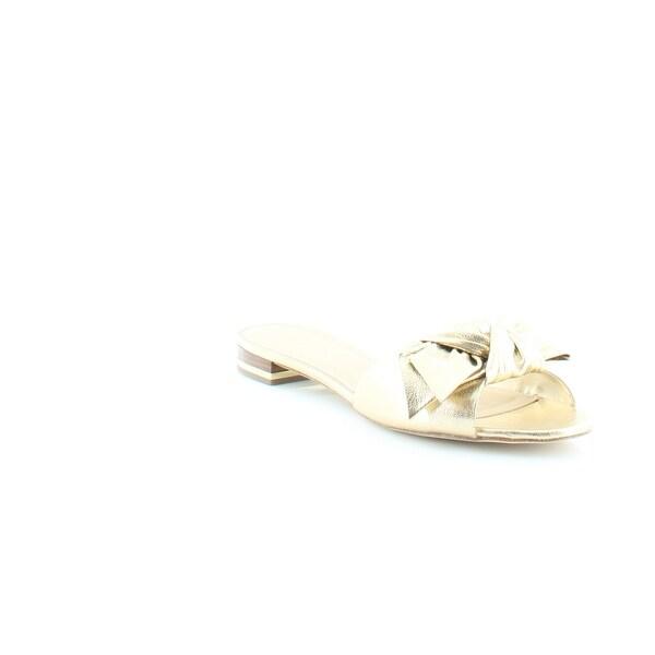 Michael Kors Willa Flat Women's Sandals & Flip Flops Pale Gold - 8.5