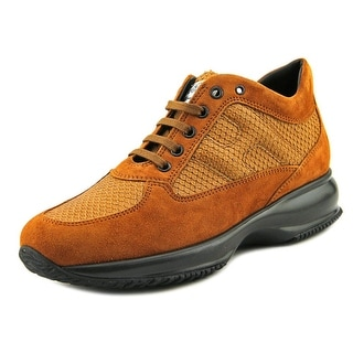 Hogan Interactive Donna Youth Suede Tan Fashion Sneakers
