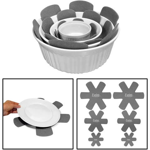 Evelots Pot/Pan Scratch Protect-Dish/Bowl-Soft Felt-Up to 15 Inch-3 Sizes-Set/12 - Set of 12