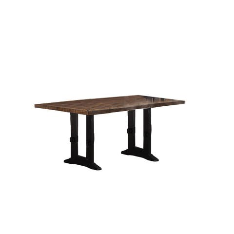 Rectangular Dining Table in Brown and Black