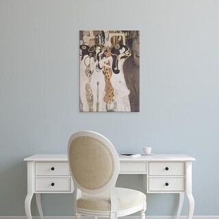 Easy Art Prints Gustav Klimt's 'The Gorgons and Typhoeus' Premium Canvas Art