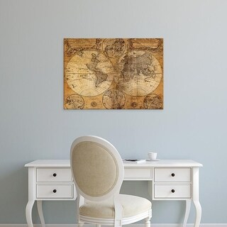 Easy Art Prints GraphINC Studio's 'Vintage Map' Premium Canvas Art