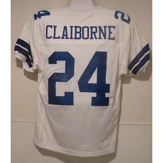 Morris Claiborne Autographed Dallas Cowboys white size XL jersey