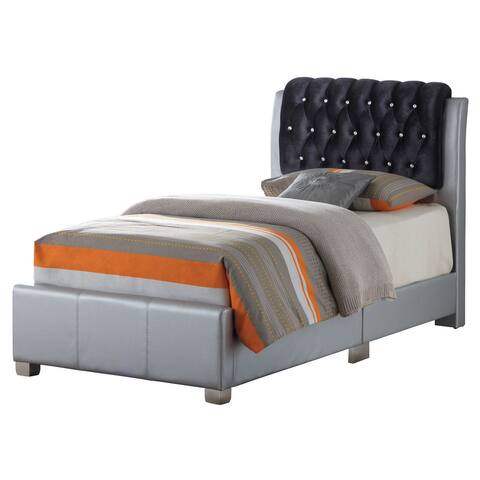 LYKE Home Levi Silver Twin Bed