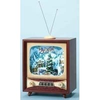 "21.5"" Amusements LED Lighted Animated and Musical Retro Christmas Television Set - multi"