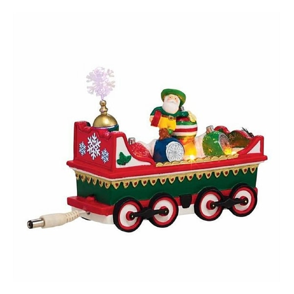 "Department 56 North Pole Series LED Lighted ""Northern Lights Ornament Car"" Accessory #4036548 - green"