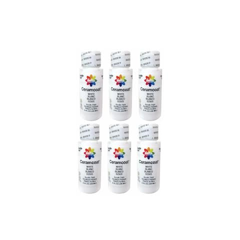 Delta Ceramcoat Acrylic 2oz White 6pc
