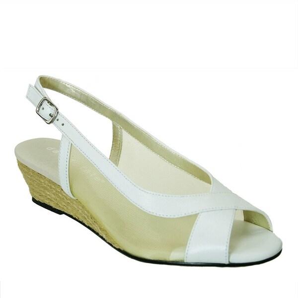 David Tate NEW White Women's Shoes Size 6WW Portos Slingback