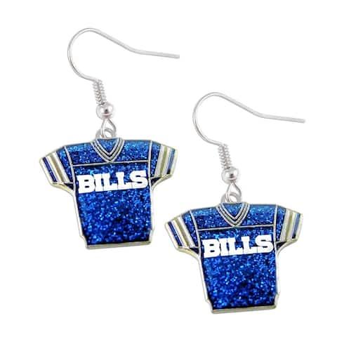 NFL Buffalo Bills Glitter Jerseys Sparkle Dangle logo Earring Set Charm Gift