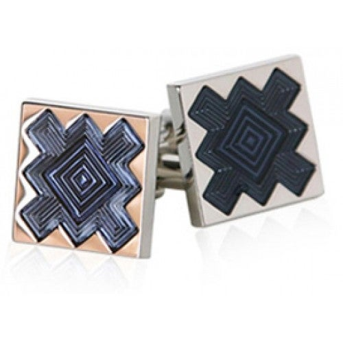 Dark Blue Starburst Cufflinks
