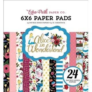 "Alice In Wonderland; 12 Designs/2 Each - Echo Park Double-Sided Paper Pad 6""X6"" 24/Pkg"