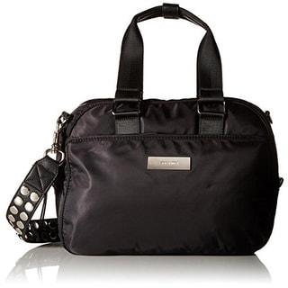 Steve Madden Womens Swoft Crossbody Handbag Studded Convertible - Black - MEDIUM
