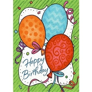 Divinity Boutique 186430 Single Cards-Birthday Balloons - Pack of 6