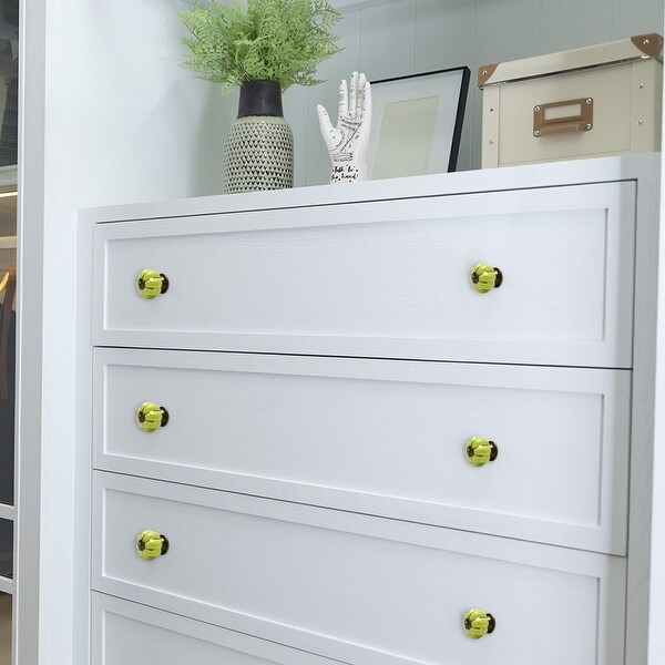 Ceramic Vintage Knob Dresser Pumpkin Pull Handle Cupboard Wardrobe 8pcs Green