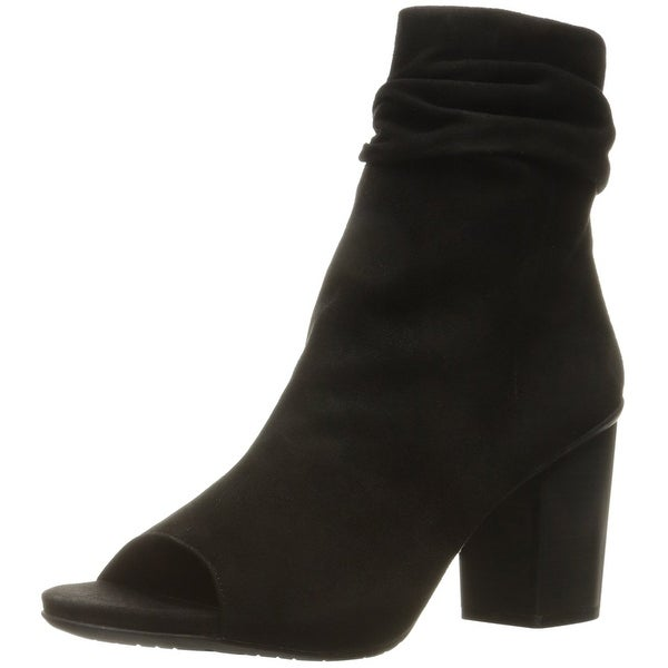 Kenneth Cole Reaction Womens Fridah Cool Leather Peep Toe Ankle Fashion Boots