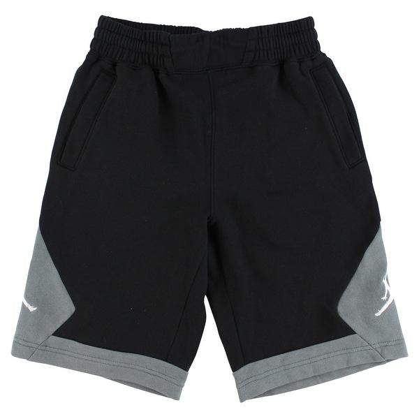 87f8a4fe6f7b2e Shop Jordan Boys Varsity Fleece Shorts Black - Black Grey - Free Shipping  On Orders Over  45 - Overstock - 22694226