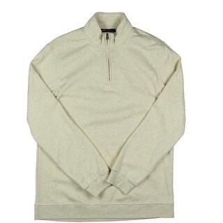 John Ashford Mens Fleece 1/4 Zip Funnel-Neck Sweatshirt