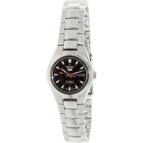 Seiko Women's 5 Automatic Silver Stainless-Steel Automatic Dress Watch