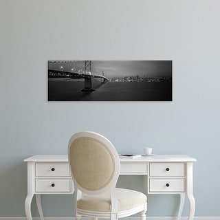 Easy Art Prints Panoramic Images's 'Bridge lit up at night, Bay Bridge, San Francisco, California' Canvas Art
