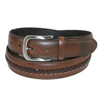 Tommy Hilfiger Men's Big & Tall Leather Center Lace Belt