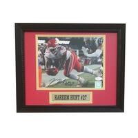 Kareem Hunt Autographed Chiefs Signed Framed 8x10 Football Photo DIVE JSA COA
