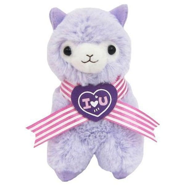 """Llama Sweet Heart Alpaca 18"""" Plush Purple - multi"""