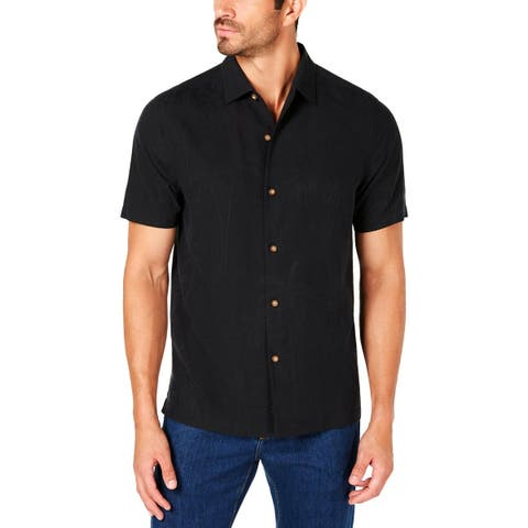 Tommy Bahama Mens Button-Down Shirt Graphic Embroidered