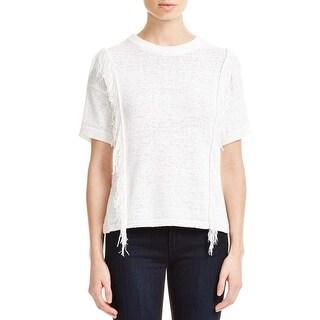 MICHAEL Michael Kors Womens Sweater Knit Fringe