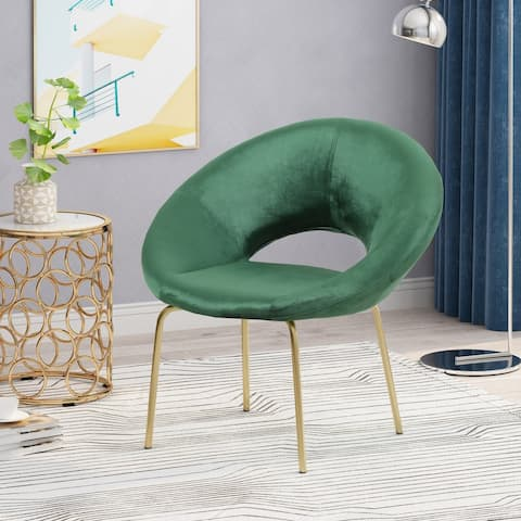 """Pincay Modern Glam Velvet Accent Chair by Christopher Knight Home - 29.50"""" W x 25.25"""" L x 30.50"""" H"""