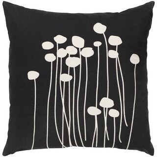 Link to Decorative Black Carlie Floral 20-inch Feather Down Fill Throw Pillow Similar Items in Decorative Accessories
