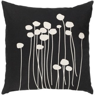 Link to Decorative Black Carlie Floral 22-inch Feather Down Fill Throw Pillow Similar Items in Decorative Accessories